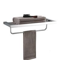 Towel Bars 2 Tier Chrome Wall Shelves Towel Rack Bath Holder Towel Hangers Bathroom Accessories Towel Rails DG8312L