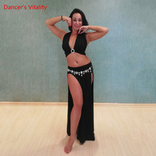 Top-Practice-Clothes Dancewear Belly-Dance-Suit Profession Long-Skirt Performance Oriental