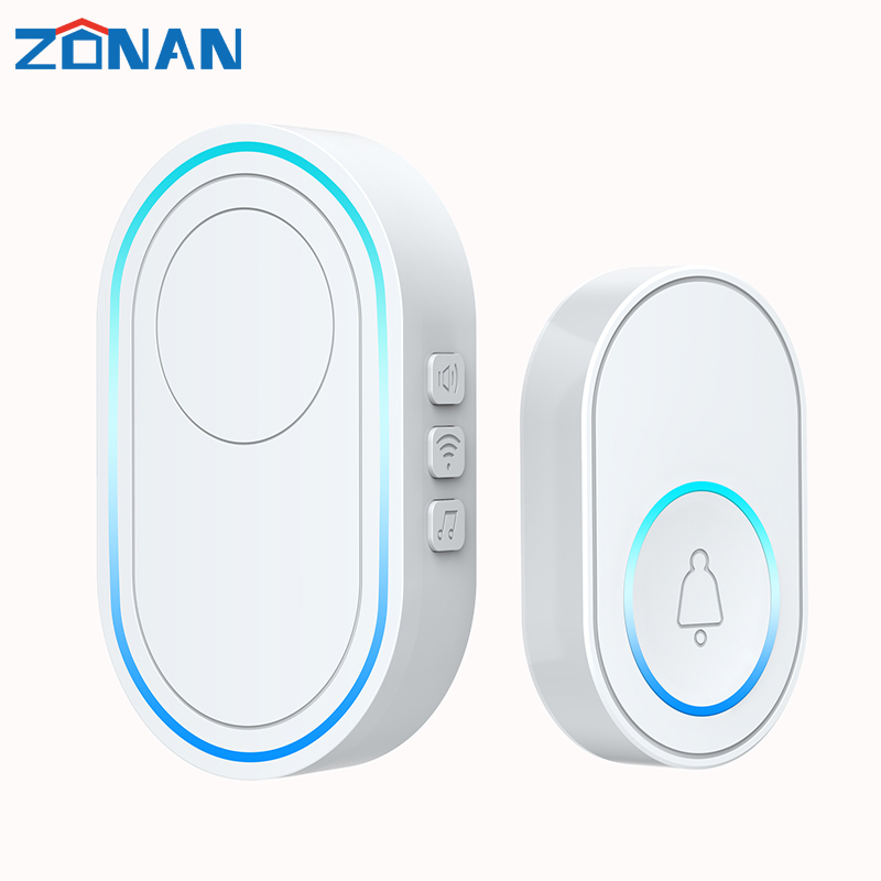 Wifi Doorbell Alarm System Intelligent Indoor 433MHz wireless detector 58 songs US EU Plug Wireless Doorbell Strobe|Doorbell| - AliExpress