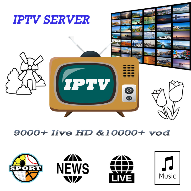 World IPTV M3u Subscription 12 Months For Portugal Spain France Italy USA Dutch For Smart TV PC Android Box