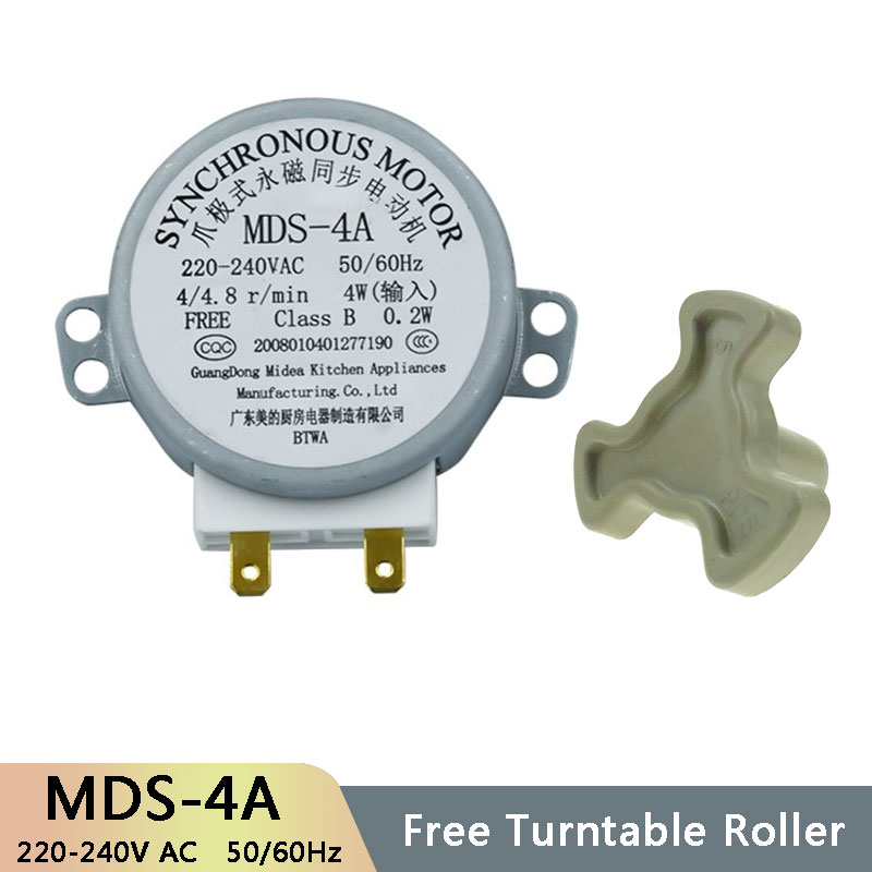 MDS-4A AC220-240V 4/4.8RPM Micro Turntable Synchronous Tray Motor Microwave Oven Accessories Spares Parts Core Coupling Clutch