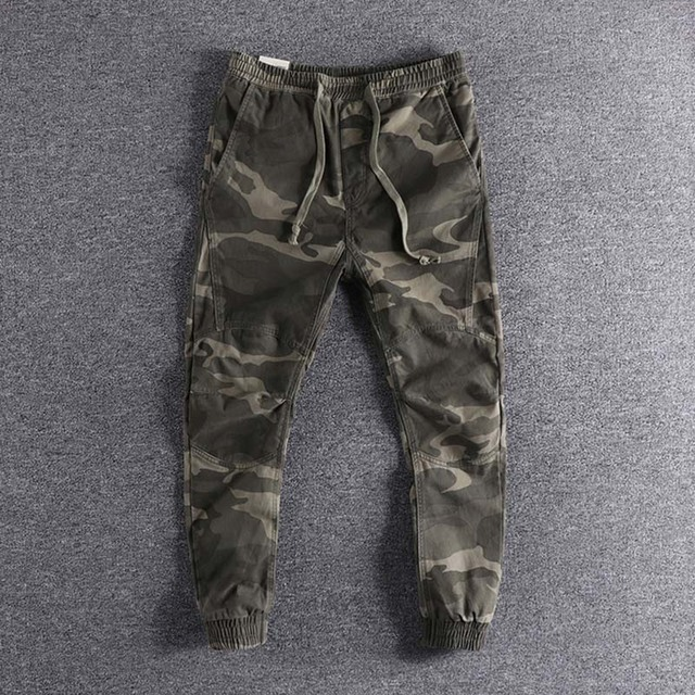 2019 new arrival Three-dimensional self-cultivation  camouflage youth trousers fashion designer plus size cool wear high quality 1