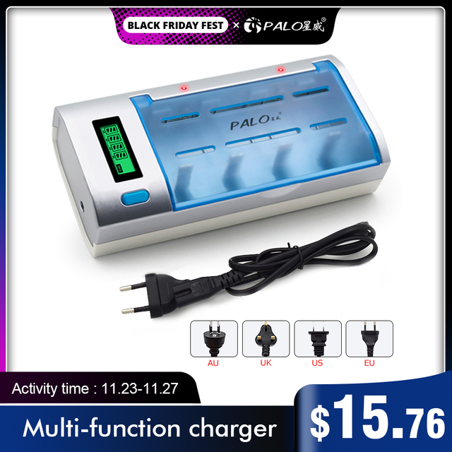 Chargeur de batterie intelligent LCD rapide pour batterie rechargeable 1.2V NI MH nimh ni mh NI CD AA / AAA / C / D SC / 9V 6F22