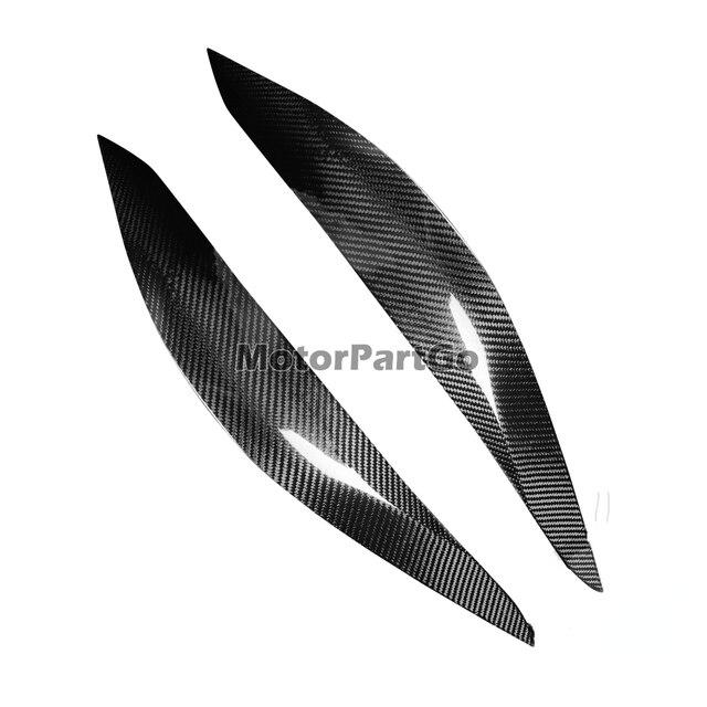 Real Crabon Fiber Head light Eyelid Eyebrow Cover Trim 1pair for  Subaru Impreza 11th Generation 11 2015-2019 T217 2