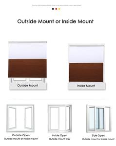 Image 5 - 패션 낮과 밤 벌집 블라인드 새로운 도착 더블 셀룰러 블라인드 음영 거실 침실 50% ~ 100% 음영 속도