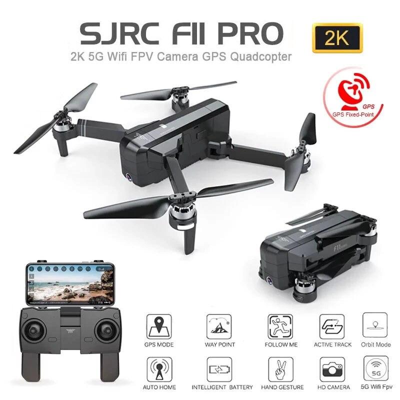 Zangão de sjrc f11 pro gps com wifi fpv 1080 p/2 k hd câmera f11 sem escova quadcopter 25 minutos de tempo de vôo dobrável dron vs sg906 Helicópteros rc  - AliExpress