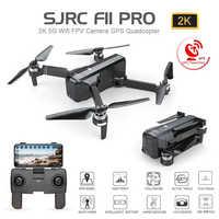 SJRC F11 פרו GPS Drone עם Wifi FPV 1080 P/2 K HD מצלמה F11 Brushless Quadcopter 25 דקות טיסה זמן מתקפל Dron Vs SG906