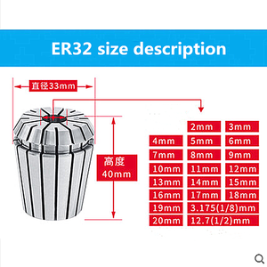 Image 5 - 2mm 20mm ER32 קולט צ אק כלי Bits מחזיק אביב קולט לcnc חריטת מכונת כרסום מחרטה כלי ספינדל מנוע מהדק