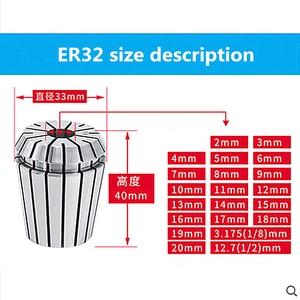 Image 5 - 2mm 20mm ER32 Collet Chuck Tool Bits Holder Spring Collet for CNC Engraving Machine Milling Lathe Tool spindel motor clamp