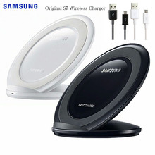 Original Samsung S7 Qi Wireless Charger EP NG930 สำหรับ Galaxy S8 S9 S10 PLUS Note9 สำหรับ iPhone 8 X XR XS MAX HUAWEI Mate 20 Pro MI9