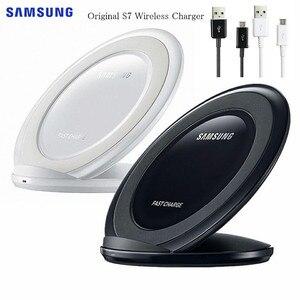 Image 1 - オリジナルサムスン S7 チーワイヤレス充電器 EP NG930 ギャラクシー S8 S9 S10 プラス Note9 iphone 8 × XR XS 最大 huawei 社メイト 20 プロ MI9