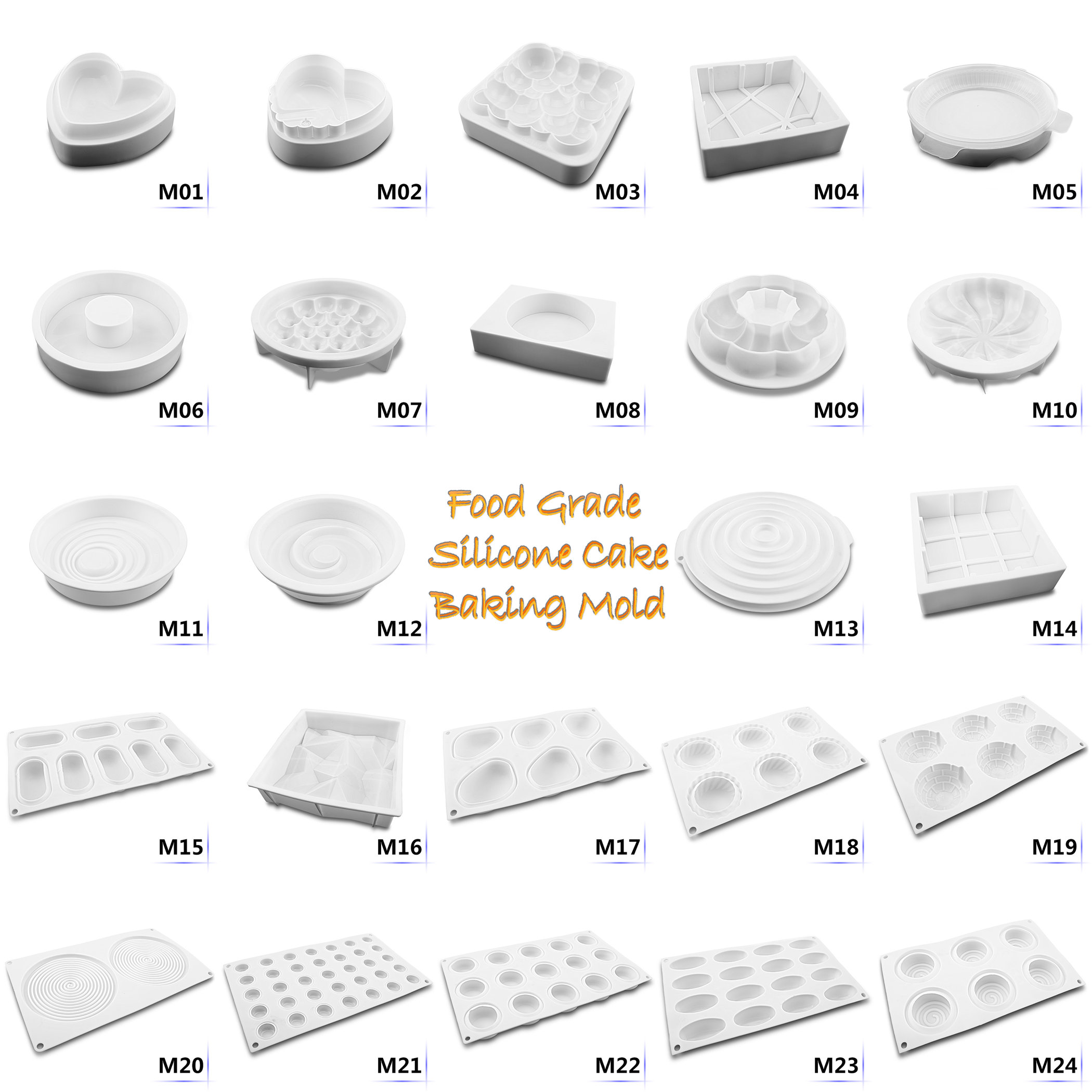 Kinds 3D DIY Silicone Mousse Cake Mold Tool Fondant Cake Decorating Baking Mould