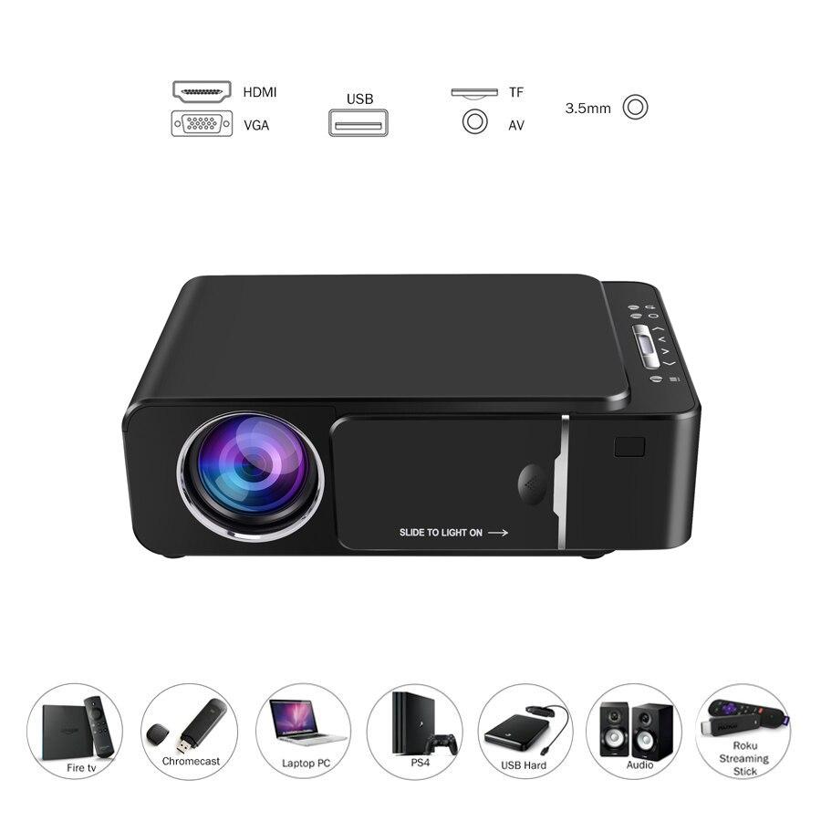 Vivicine 1280x720p projetor hd portátil, opção android 7.1 hdmi usb 1080p casa teatro proyector wifi mini led beamer - 2