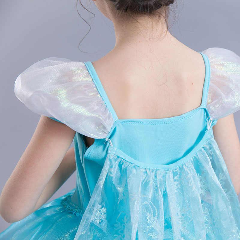 Trẻ Em ELSA Cho Bé Gái Giáng Sinh Quần Áo Phụ Kiện Trẻ Em Carnival Tiệc Sinh Nhật Cosplay Nữ Hoàng Tuyết Elza Trang Phục Tóc Giả