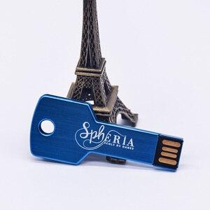 Image 4 - Prawdziwa pojemność metalowy klucz pamięć USB Pendrive 32GB 128MB 1GB 4GB 64GB Pendrive urządzenie pamięci masowej prezenty (ponad 10 sztuk logo za darmo)