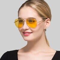 Sonnenbrille Männer Gelb Nachtsicht Objektiv Anti-glare Fahrer Gläser Für Männer Pilot Polarisierte Sonnenbrille für Männer Frauen Dropshipping