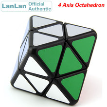 LanLan 4 Axis Octahedron Magic Cube Professional Neo Speed Puzzle Antistress Fidget Educational Toys For Children