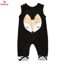 Newborn Kids Baby Boys Girls Clothes Romper Sleeveless Carto