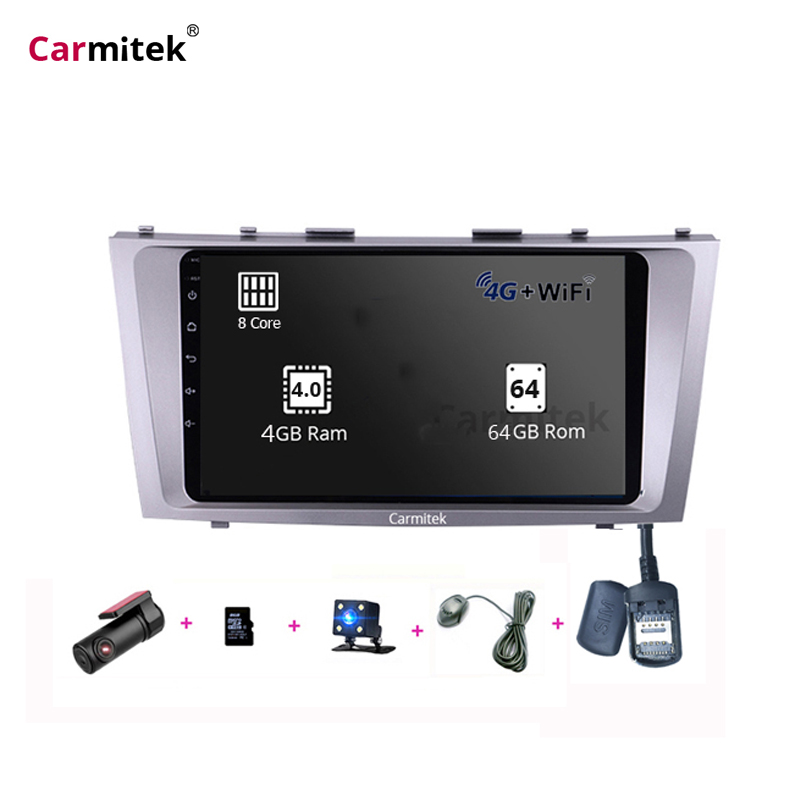 9 polegada Android Camery DVD 2din Sistema de Navegação gps da tela de Toque Para Toyota Camry 40 50 vx 2006 2007 2008 2009 2010 2011