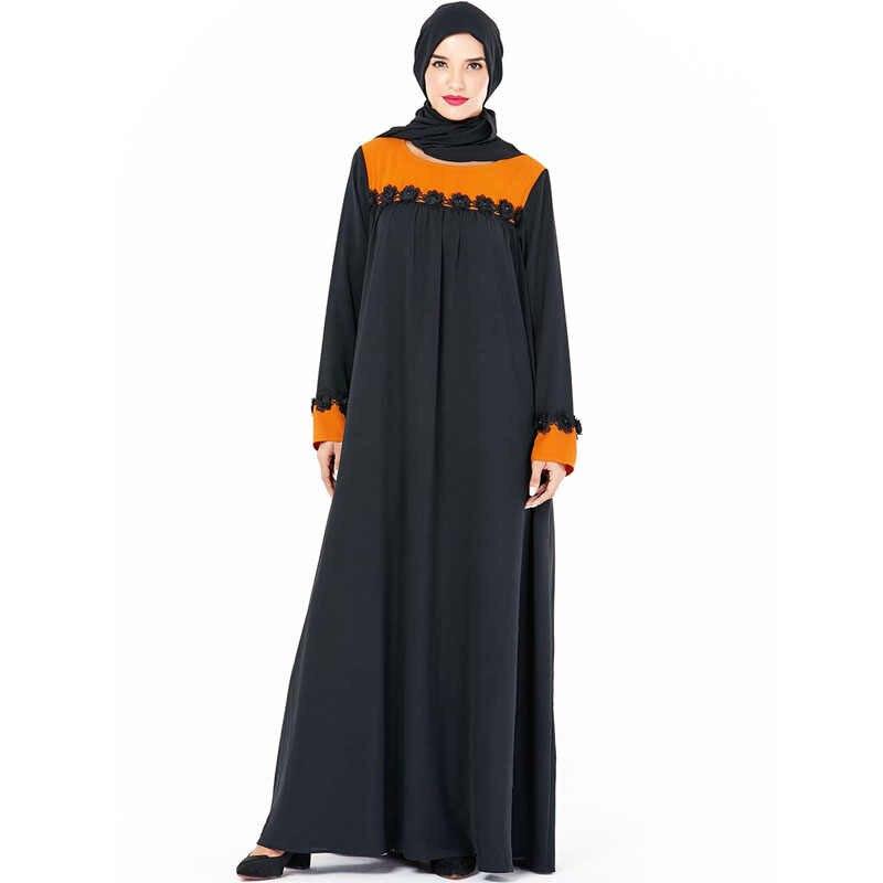 Nouveau traditionnel brodé femmes o-cou Robe abaya ethnique Ukraine Maxi Robe musulmane épissure Islam Indie Folk grande Robe trapèze