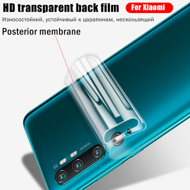Screen Protector For Xiaomi Poco M3 X3 NFC F1 F2 Pro For Mi Note 10 Pro A3 A2 A1 8 9 9T 10T Lite Mix 3 Hydrogel Front Back Film 6