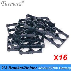 Турмера 32650 32700 2*3 держатель батареи кронштейн для сотового безопасности анти вибрации пластиковые скобы для 32650 32700 аккумулятор 16 штук