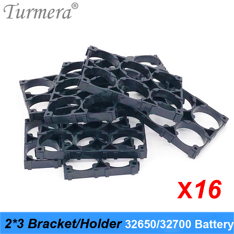 Turmera <font><b>32650</b></font> 32700 2*3 <font><b>Battery</b></font> <font><b>Holder</b></font> Bracket Cell Safety Anti Vibration Plastic Brackets For <font><b>32650</b></font> 32700 <font><b>Battery</b></font> Pack 16pieces image