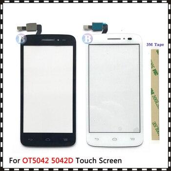 """Замена высокого качества 4,5 """"для Alcatel One Touch POP 2 5042D OT5042 5042 сенсорный экран дигитайзер Датчик внешняя стеклянная панель объектива"""