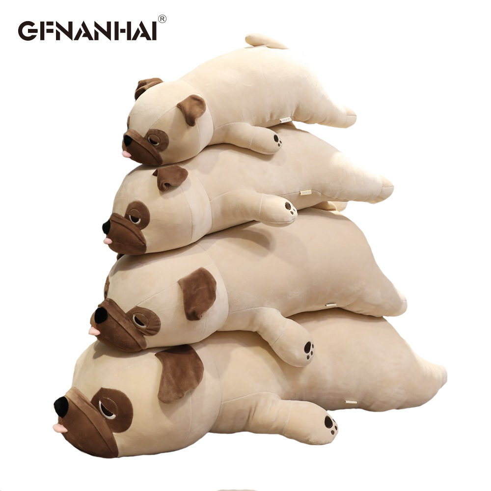 1pc 55-90CM Cute Pug Dog Plush Toys Stuffed Kawaii Animal Dog Pillow Baby Sleep Appease Child Birthday Gift For Kids Children
