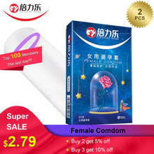 Beilile 2PCS Condoms For Women Ultra-thin Female Condom Sex Intimate Products Contraceptives for Cock Penis Sleeve
