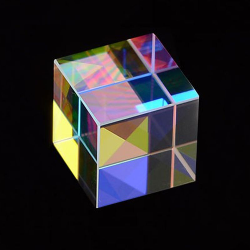 X-Cube Six-Sided Bright Light Cube Optical Glass Prism Beam Splitting RGB Prism For Optical Experiment Instrument Optical Lens