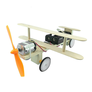 Image 5 - DIY Electric Power Airplane Wooden Model Kit Bricks Set Technology Physical Science Experiments Educational Toys For Children