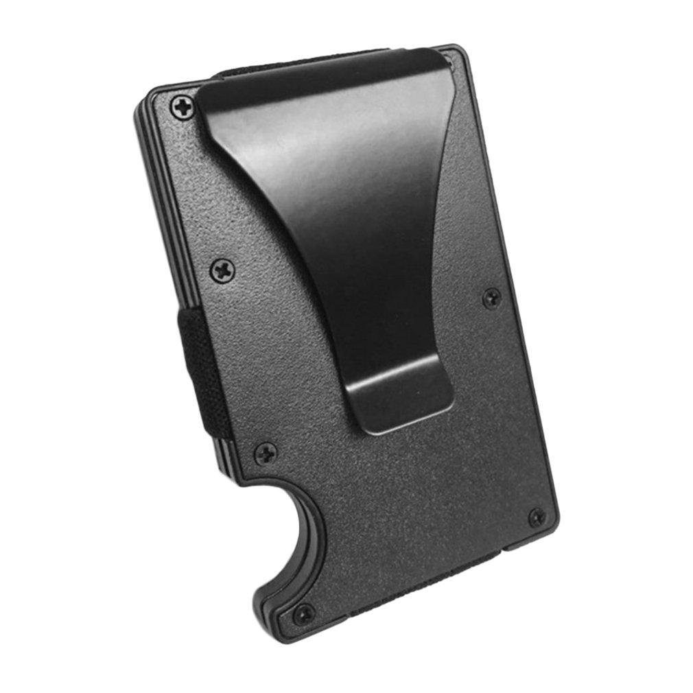 2019 New Hot Men Card Holder Slim Aluminium Credit Card Holder Metal Wallet Anti Scan Function Hold Card Coins Cash