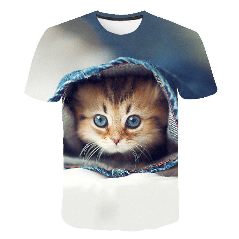 Милая футболка для девочек, корейская модная футболка Ulzzang с объемным животным, мультяшная футболка, Детские рубашки, повседневная детская ...