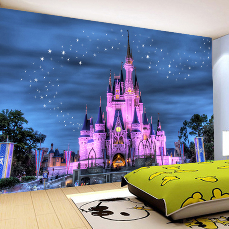 HD Fantasy Starry Sky Castle 3D Wallpaper Children's Room Restaurant Modern Latest Design Interior Decor Mural Papel De Parede