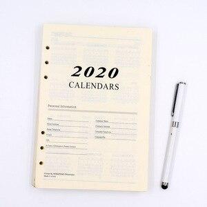 Image 2 - Harphia 2020 ve 2021 programı iç kağıt 6 delik ciltli defter dolum için 180 sayfa gündem planlayıcısı