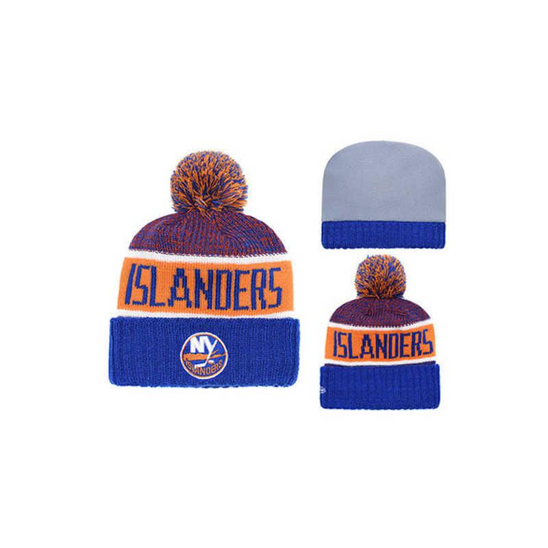 Ice Hockey Team Rajutan Topi Pria dan Wanita Hangat Olahraga Topi Musim Dingin Rajutan Topi Nasional Roller Hockey Fan Topi
