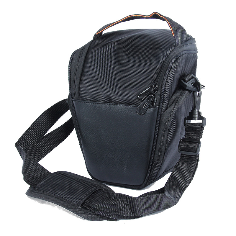 Black Nylon Camera Waterproof Bag <font><b>Case</b></font> For Sony For Canon For <font><b>Nikon</b></font> D5200 D5100 D5000 <font><b>D3100</b></font> With Shoulder Strap 5035 image