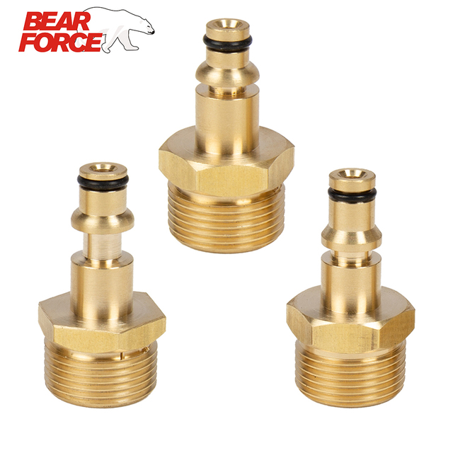 Almencla Tool Daily Pressure Washer Adapter Set Female Swivel to M22 Male Fitting Black+Golden A1