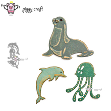 Die-Mold Cutting-Dies Dolphin Piggy-Craft Metal Punch Scrapbook Jellyfish Blade Seal