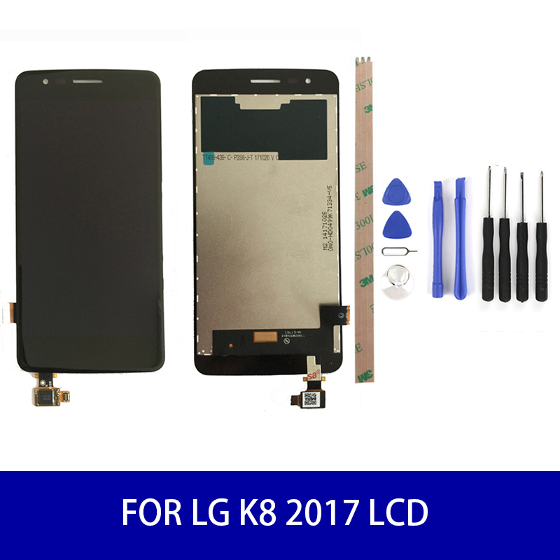 Original For <font><b>LG</b></font> K8 2017 <font><b>X240</b></font> <font><b>Lcd</b></font> Display Touch Screen Panel Digitizer Assembly Screen Replacement Parts IPS 1280*720 image