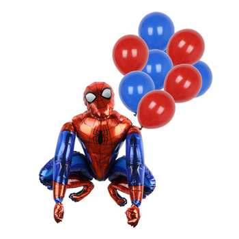 1set 3D Big Spider Supper Hero Man Mylar Foil Balloon Number Foil Balloons Birthday Party Decoration Supplies Children's Gifts 17