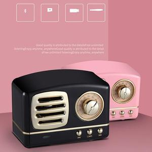 Image 3 - Taşınabilir hoparlör Bluetooth hoparlör Mini Retro kablosuz hoparlörler radyo USB/TF kart müzik çalar HIFI Subwoofer Bluetooth 4.1
