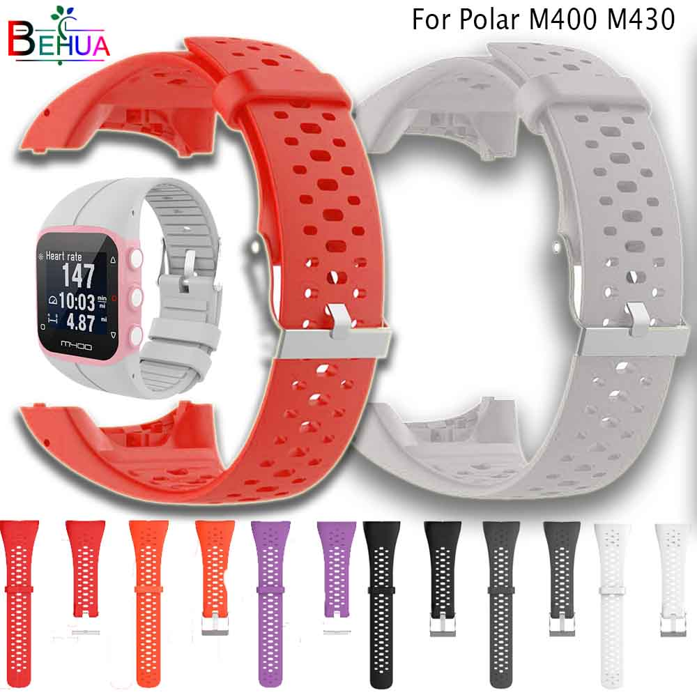 New WatchBand For For Polar M430 M400 GPS Sport Silicone Smart Watch Wristband Strap Replacement Colorful Waterproof With Tool