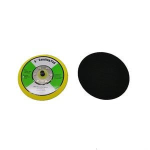 Image 2 - 5/6 인치 에어 샌더 자동차 폴리 셔 연마 디스크 연마 버핑 패드 배킹 플라스틱 배킹 패드 샌딩 플레이트