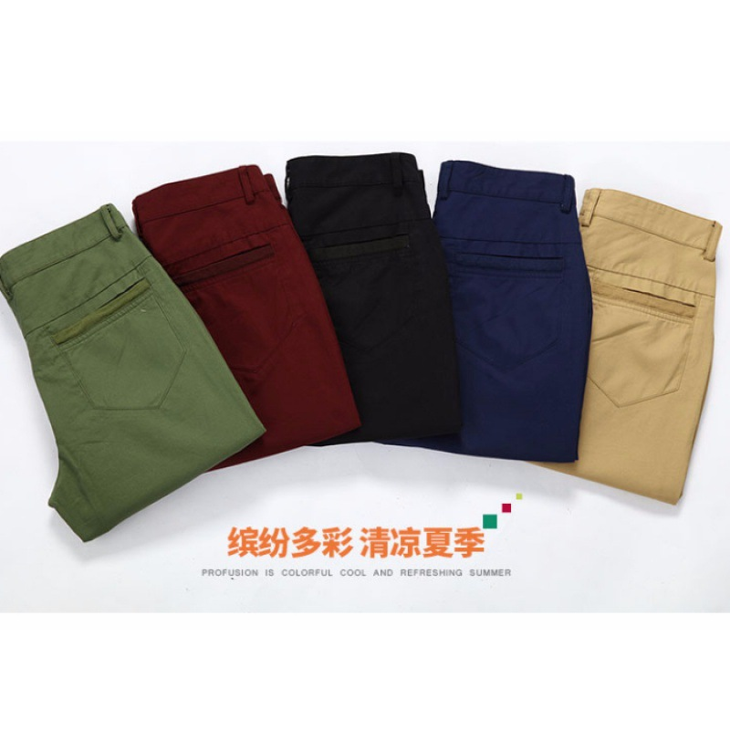 Shorts Cropped Trousers For Men Casual Loose-Fit Short Shorts Summer Thin Section Capris Trend Pants Men's 7 Points Breeches