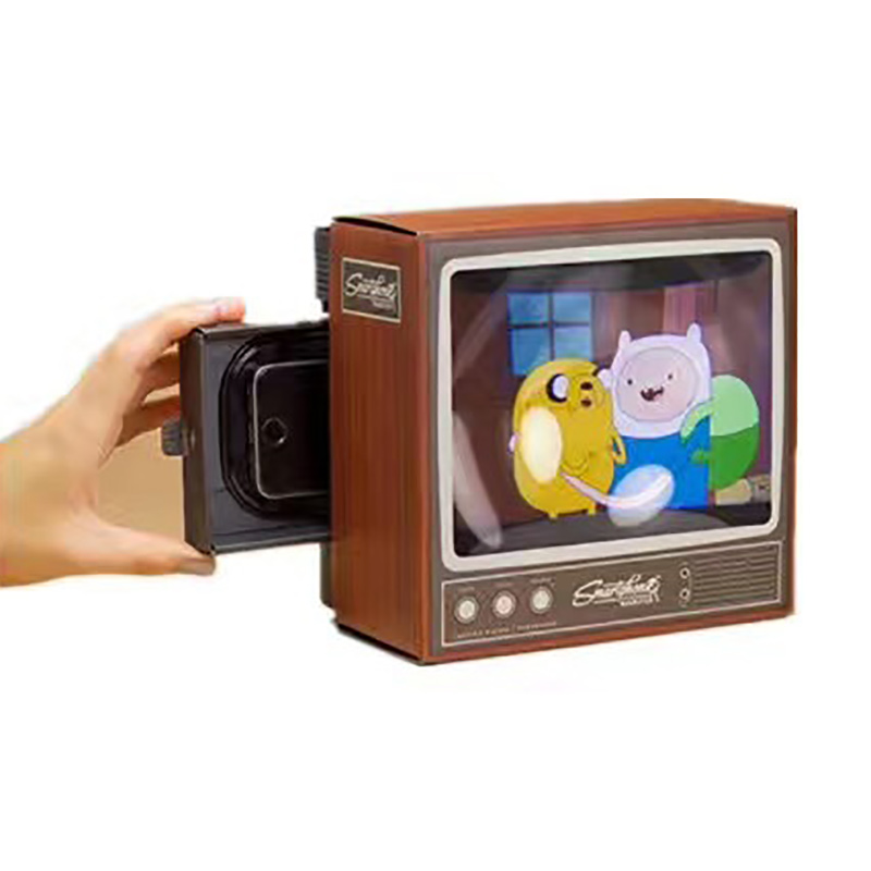 Mini TV Phone Screen Magnifier Creative DIY Retro Mobile Video Tablet Holder Enlarged Expander Stand Movie Video Magnifier Gifts