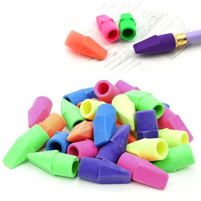 150 Pcs Pencil Top Eraser Caps Arrowhead Assorted Colors In Bulk Pack Of 150