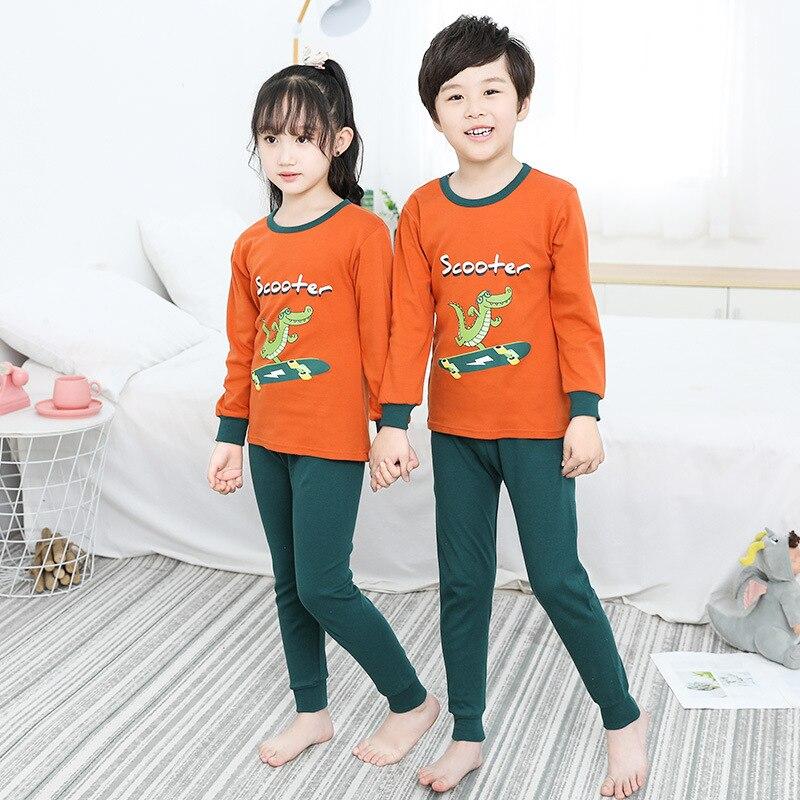 Kids Pajamas Sets Boys Girls Dinosaur Cartoon Sleepwear 2-13Y Teens Clothes Children Pijama Unicornio Nightwear Pyjamas Kids