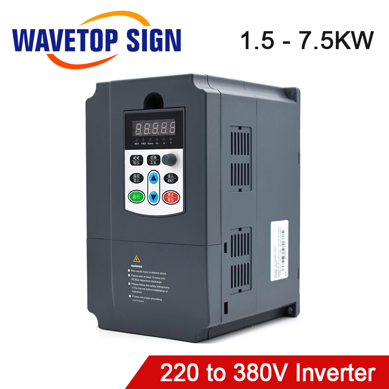 VFD Inverter 1.5kw 2.2kw 3kw 4kw 5.5kw 220V to 380V With CNC Spindle <font><b>Motor</b></font> use for cnc router milling machine tools image